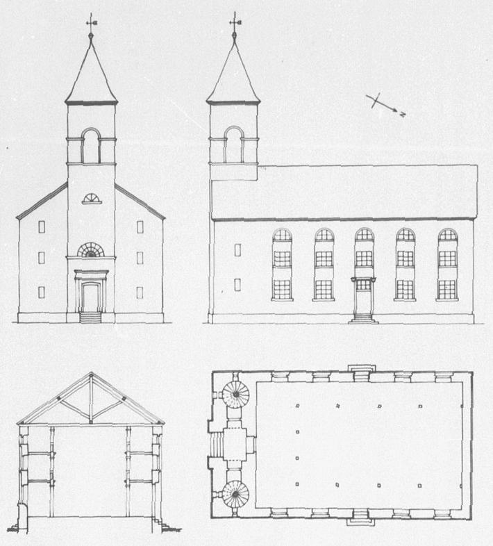 Reilingen-Evangelische-Kirche - Pläne