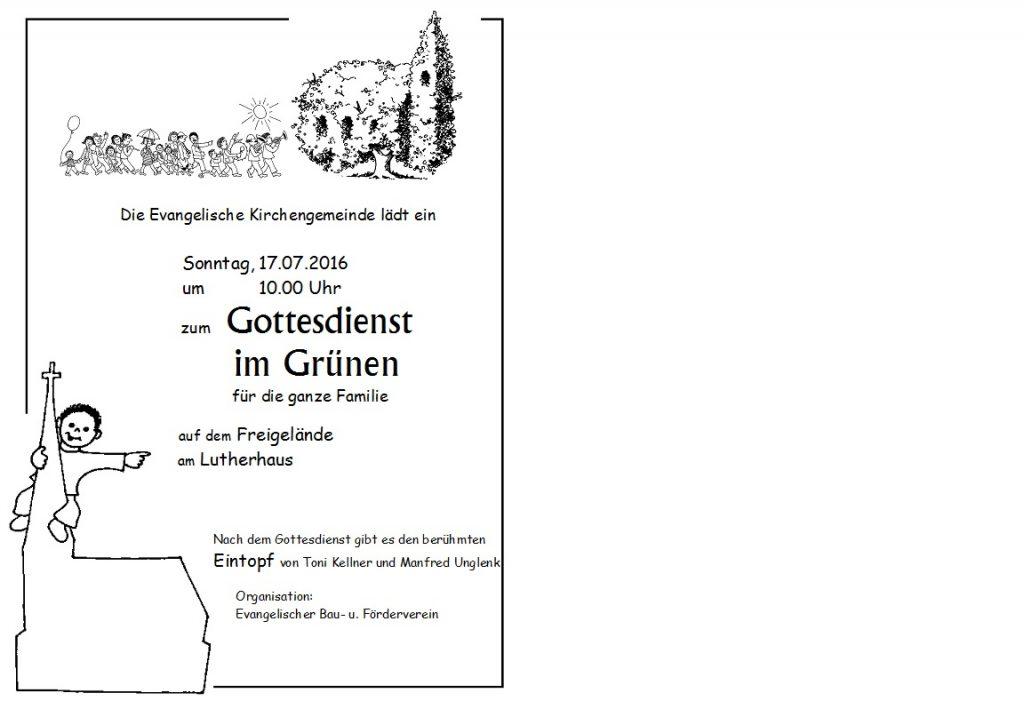 Plakat Godie im Grünen 2016