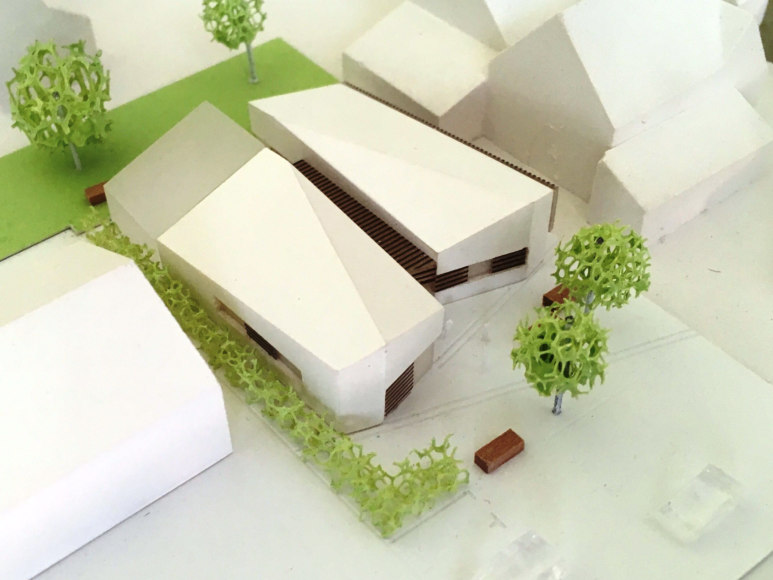 Modell des neuen Lutherhauses